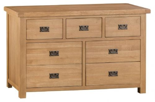 Chelmsford Oak 3 Over 4 Drawer Wide Chest